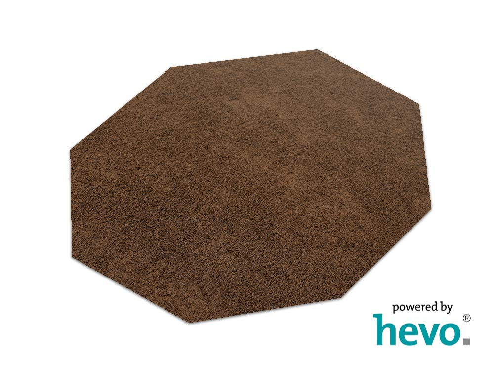 fiji braun hevo hochflorteppich shag teppich 200x200 cm achteck ebay. Black Bedroom Furniture Sets. Home Design Ideas