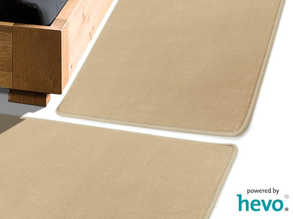 Romeo beige HEVO ® Bettumrandung 2 Teile 70×140 cm + 1