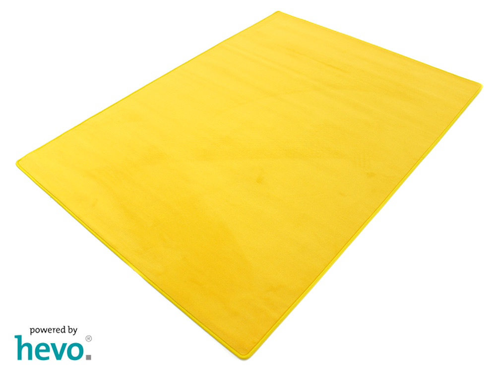 Romeo gelb HEVO ® Velours Kettel Teppich verschiedene