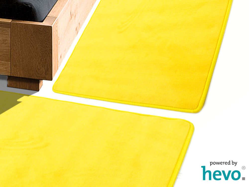 Romeo gelb HEVO ® Bettumrandung 2 Teile 70×140 cm + 1 Teil