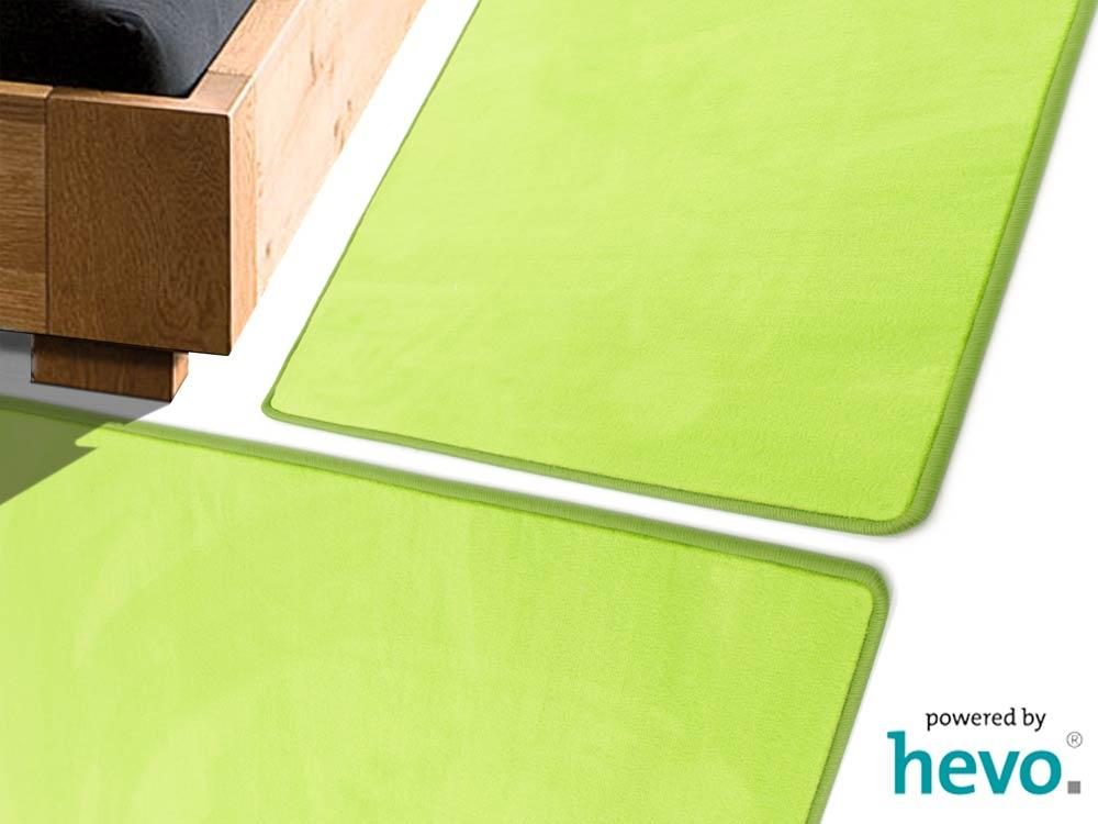 Romeo grün HEVO ® Bettumrandung 2 Teile 70×140 cm + 1 Teil