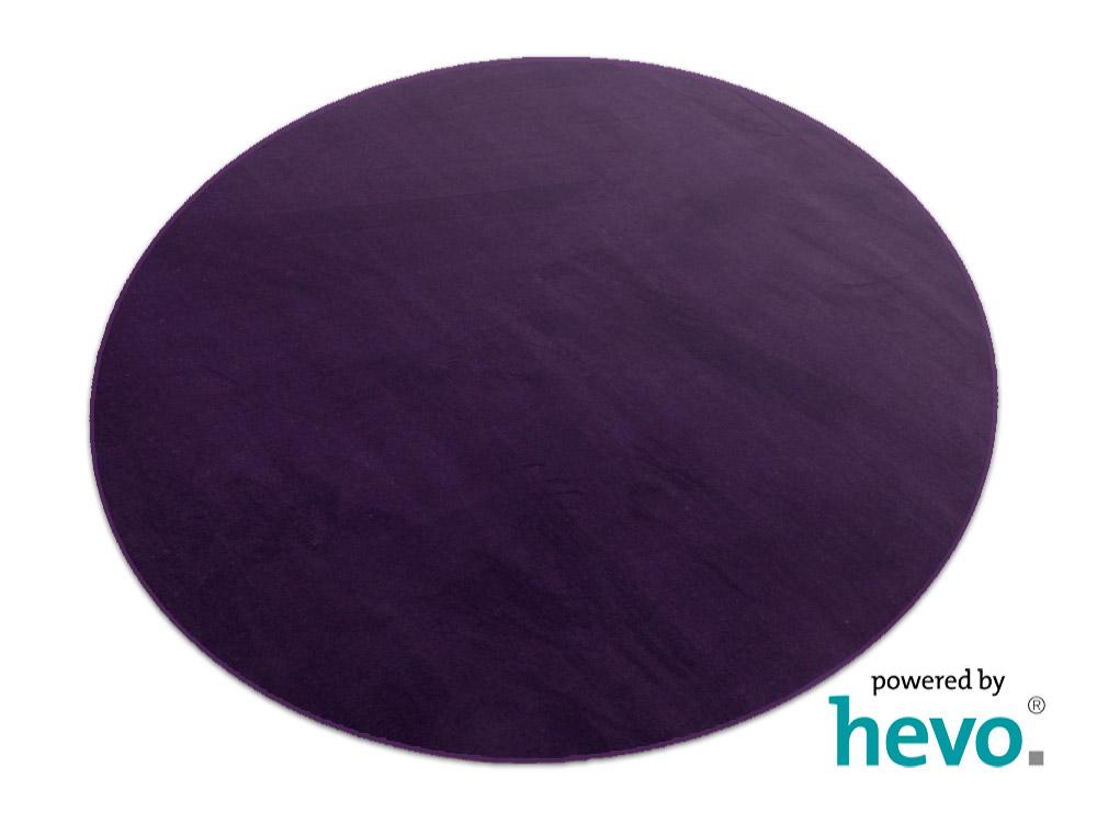 Teppich rund lila  Romeo lila HEVO ® Velours Kettel Teppich 160 cm Ø Rund | eBay