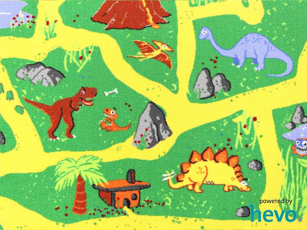Dinosaurier HEVO ® Teppich  Spielteppich  Kinderteppic