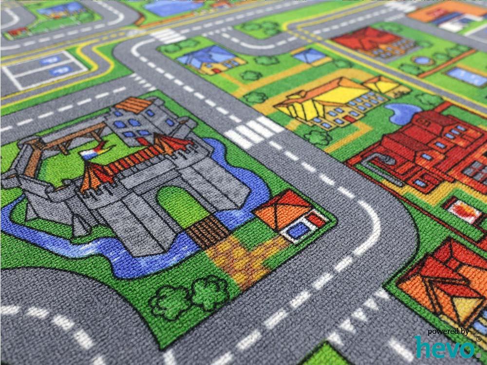 Spiel Stadt HEVO ® Teppich  Kinderteppich  Spielteppich