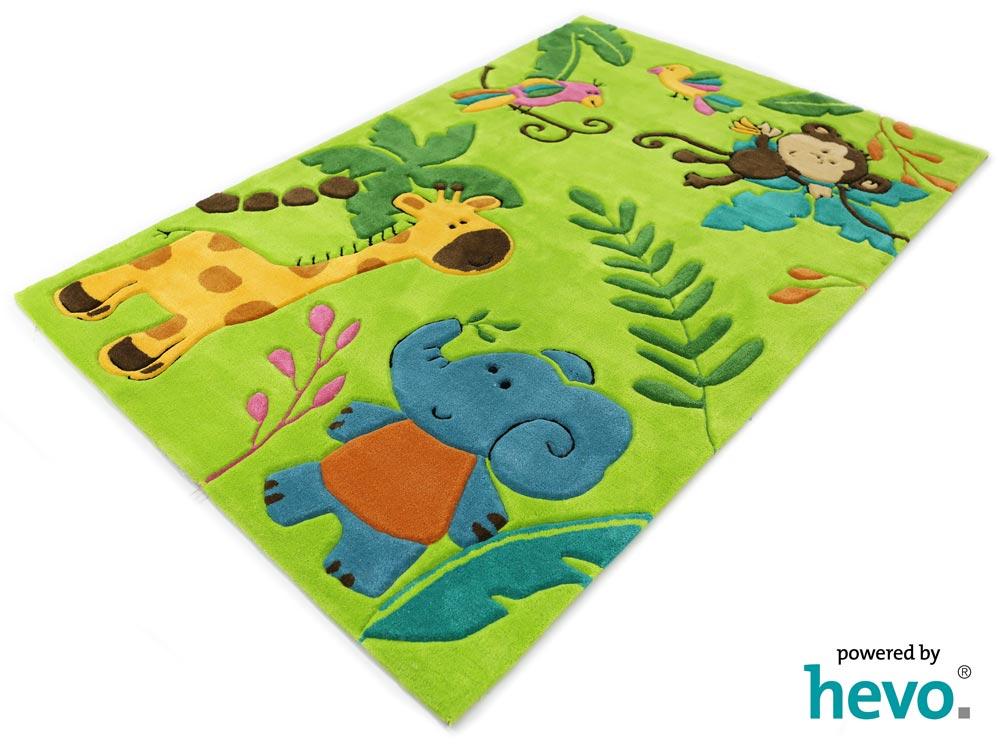 Bernadette Handtuft Kinderteppich grün 160×230 cm