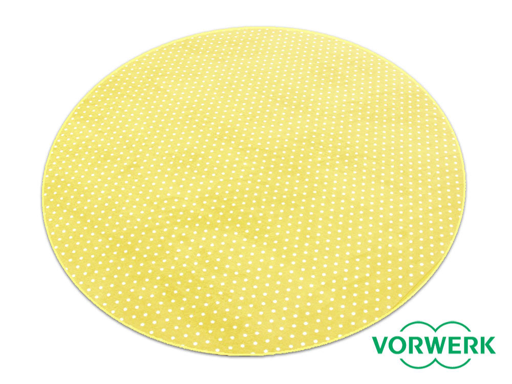 Bijou Petticoat gelb Kettel Teppich 160 cm Rund Vorwerk