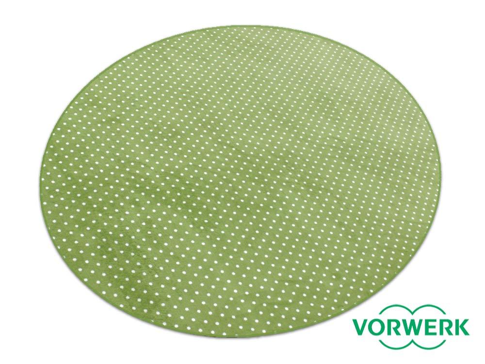 Teppich Grün Rund ~  Petticoat grün Kettel Teppich 200 cm Rund Vorwerk kaufen bei Hoodde