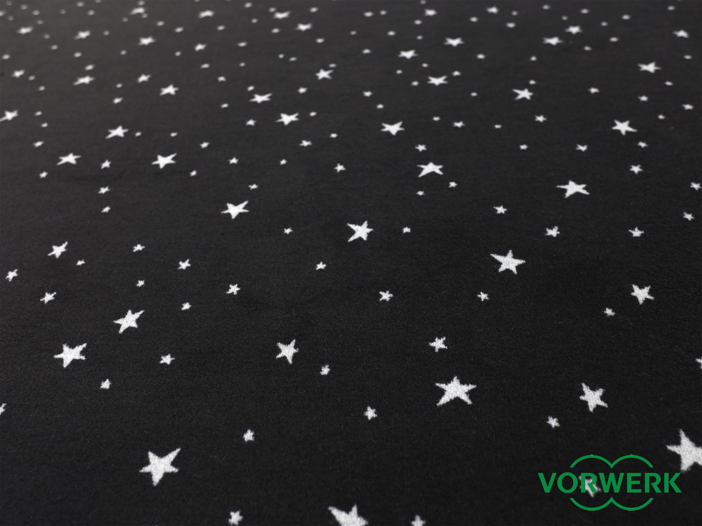 bijou stars schwarz vorwerk bettumrandung 2 teile 70x140. Black Bedroom Furniture Sets. Home Design Ideas