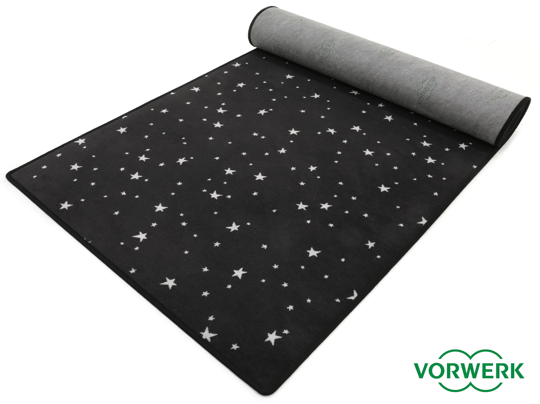 bijou stars schwarz teppichl ufer 120x300 cm von vorwerk ebay. Black Bedroom Furniture Sets. Home Design Ideas