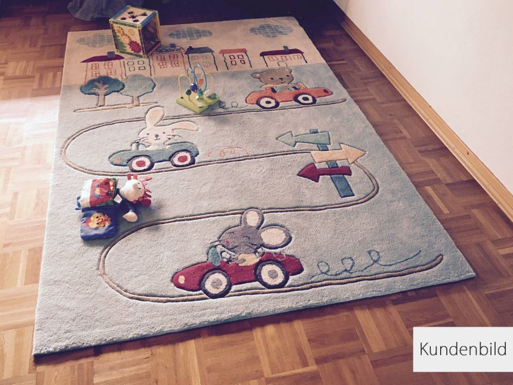 Animal City Kinderteppich|Textiles Vertrauen Oeko Tex 100