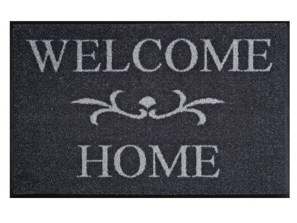 Wash+Dry Fußmatte Welcome Home grau | 50x75 cm