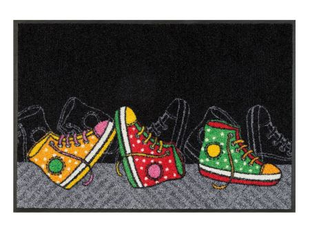 Wash+Dry Fußmatte Happy Sneakers | 50x75 cm
