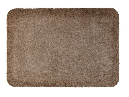 Wash+Dry Stand-On Design Monocolor Taupe 55x78 cm